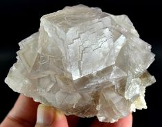 274 Grams Top Quality Pale Pinkis Color Change Cubic Fluorite Specimen From PAK