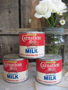 Vintage Tin Carnation Evaporated Milk Can Bank ..... by SweetMagnoliasFarm, 14.50