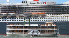 #Kookaburra #River #Queen #QueenMary2 #boat River Queen, Queen Mary, Mountain Range, New Zealand, Queens, Boat, Australia, Dinghy, Thea Queen