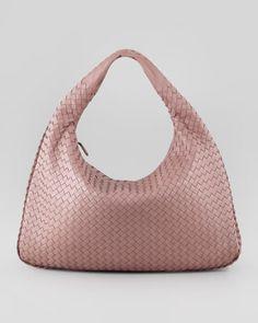 Bottega Veneta Intrecciato Woven Large Hobo Bag
