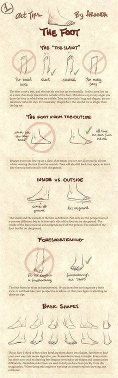 'Art Tips- The Foot' by ArandaDill on DeviantART