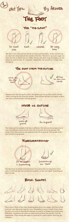 'Art Tips- The Foot' by ArandaDill on DeviantART