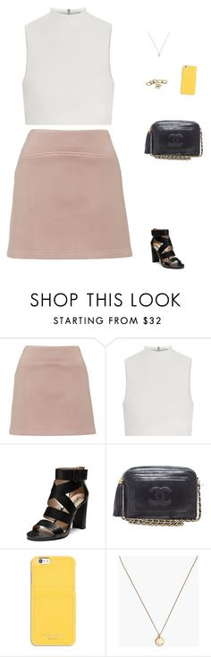 """Untitled #1643"" by tayloremily218 on Polyvore featuring Topshop, Elizabeth and James, DKNY, Chanel, MICHAEL Michael Kors and Madewell"