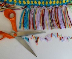 How to make a knotted tassel border for a crochet blanket.