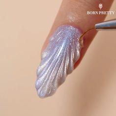 Nail Art Designs Videos, Cute Nail Art Designs, Nail Design Video, Nail Art Videos, Diy Acrylic Nails, Gel Nail Art, Gel Nails, Elegant Nails, Stylish Nails
