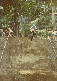 He died in his by drowning while trying to save his drowning dog. Mx Racing, Dirt Bike Racing, Motocross Bikes, Vintage Motocross, Old Scool, Off Road Bikes, 80s Style, Bike Rider, Dirtbikes