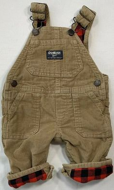 Everyday Holidays, Oshkosh Bgosh, Buffalo Plaid, 3 Months, Baby Boys, Corduroy, Online Price, Overalls, Denim