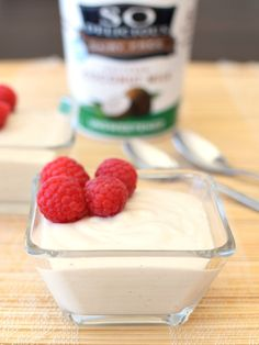 Healthy Yogurt Mousse: my go-to treat! So rich, so creamy, so perfectly sweet, yet low sugar and completely dairy-free, gluten-free, soy-free and vegan!
