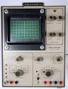 Heathkit Oscilloscope IO-102   My first scope, built around 1973.
