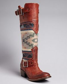FREEBIRD by Steven Tall Western Boots - Quixote Mexican Blanket - Boots - Shoes - Shoes - Bloomingdale's