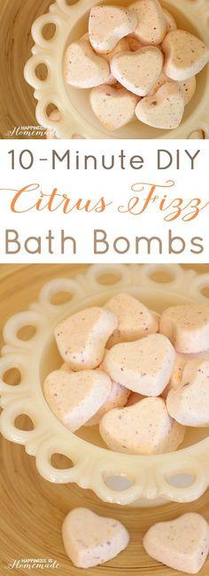 10 Minute DIY: Citrus Fizz Bath Bombs.