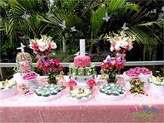 Bolo. Balão. Diversão!! - Festas com Gostinho de Infância: Fadas, flores e borboletas... Muitas borboletas! / Fairies, Flowers and Butterflies