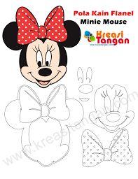 Image result for moldes de minnie mouse en foami para imprimir