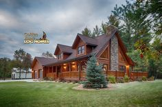My son's absolute favorite log home look, from Golden Eagle Log Homes, Inc.
