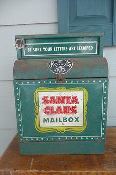 Antique Christmas Mail Box