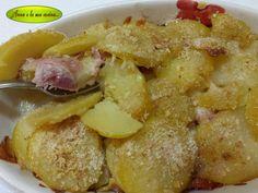 Tortino di patate affettate al forno
