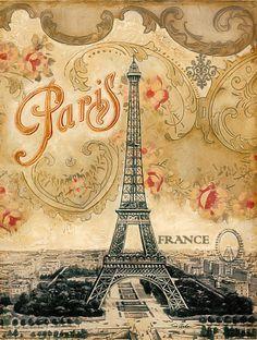 Arte Encanto por Vasti Fernandes: Vintage Images Paris