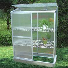 """Mini serre de jardin ou balcon polycarbonate """"Capucine"""" 0.8m2"""