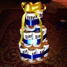 Miller Lite Beer Cake...