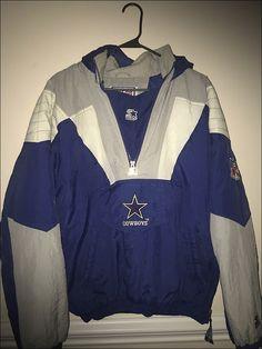 96a24e59e RESERVED Vintage 90 s NFL Dallas Cowboys Starter Pullover Parka Coat - Size  Med