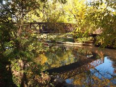 Photo by Patty Turnquist of Swan Court Bridge at Lakeside Park. #KansasBeautiful