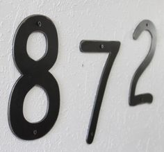 Large metal number 8 inch number by toughandtwisted on Etsy
