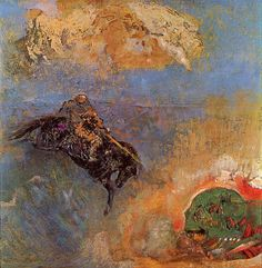 """Roger and Angelica, Odilon Redon """
