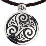 NOVICA Fair Trade Celtic Handcrafted Brown Leather Silver Necklace
