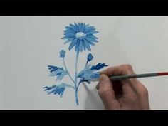 Watercolour Flowers One - Part Two. So much skill with masking between glazes