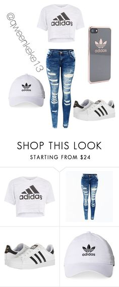 """""""Team Adidas"""" by qweenkeke13 ❤ liked on Polyvore featuring Topshop and adidas"""
