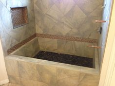building a roman tub. ROMAN STYLE SHOWER  TUB TILE INSTALL Highrise Court Pinterest Tub tile Shower tub and Tubs