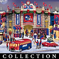 New York Giants Christmas Village Collection