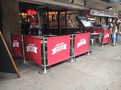 Jamie's Italian Installation of Cafe Barriers. #cafebanners #cafe #banners #canvas #jamie's #jamiesitalian #cafebarriers