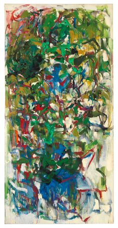 Untitled, 1967. Oil on canvas, 76 3/4 x 38 1/8 inches (194.9 x 96.8 cm). Collection of the Joan Mitchell Foundation, New York.