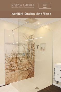 Showering without tiles: modern, easy to care for, long-lasting.- Showering without tiles: modern, easy to care for, long-lasting. Source by michaelschiwekraumgestaltung - Living Room Designs, Living Room Decor, Kitchen Ornaments, Bedroom Murals, Rain Shower, Window Treatments, Bathroom Styling, Interior Decorating, Sweet Home
