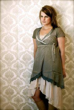 Dress - Cream - & underdress - Vila