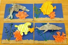 pop up fish collage-elementary art-Art with Mr. Giannetto blog
