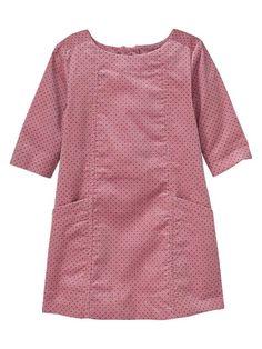 Dot corduroy shift dress- for Madeline Baby Girl Dress Design, Girls Frock Design, Kids Frocks Design, Baby Frocks Designs, Frocks For Girls, Toddler Girl Dresses, Little Girl Dresses, Toddler Girls, Girls Dresses