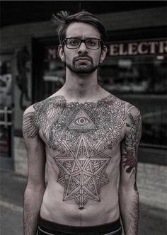 170 Popular Chest Tattoos for Men and Women nice  Check more at http://fabulousdesign.net/chest-tattoos/