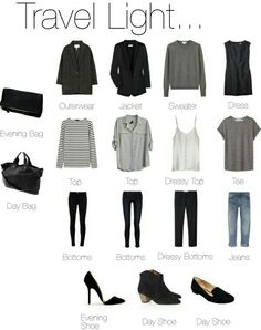 Travel wardrobe  Casual outfit
