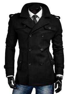 3440b5f1d061 Herren Mantel Sakko Sweatjacke Herrenmantel Warm Jacke Figurbetont Schwarz  Grau Mantel Jacke Herren, Mantel Männer