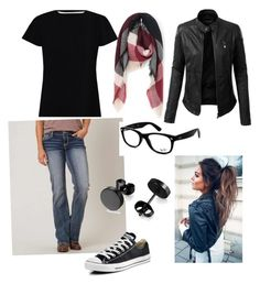 """""""Untitled #53"""" by rachierae on Polyvore featuring Daytrip, Ray-Ban, Zimmermann, Converse, LE3NO and Just Jamie"""