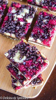 Dark Chocolate Raspberry Pie Bars mom we gotta make these @Mary Powers Powers Powers Powers Powers Morgan