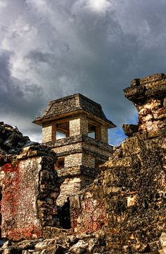The Palace Observation Tower. Palenque  México