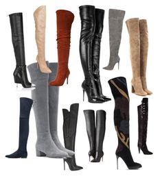 """""""Over-The-Knee...Anyone???"""" by la-harrell-styling-co on Polyvore featuring Alexander McQueen, Gianni Renzi, Gianvito Rossi, Givenchy, Stuart Weitzman, Burberry, Isabel Marant, Alice + Olivia and Casadei"""