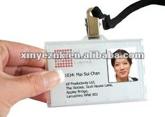 Plastic Sample Company Id Card