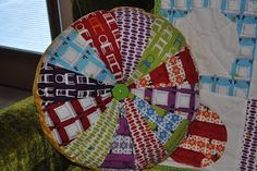 The Little Fabric Blog: Pillow  Could use the upholstery samples that I have for this.