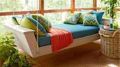 13 Free DIY Bed Plans for Adults and Children: Lowe's Free Hanging Daybed Plan