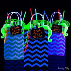 Shop Scroll Chalkboard Label Clips Multicolored Glow Stick Necklaces Glow Stick Set Black Light Neon Bead Necklaces Black Light Neon Green Moustache, Neon Green Shutter Glasses, Black CFL Light Bulb, Portable Mini Black Light, Black Light Spot Bulb and Neon Birthday, 13th Birthday Parties, Birthday Party For Teens, Birthday Ideas, 9th Birthday, Glow In Dark Party, Glow Stick Party, Black Light Party Ideas, Glow Sticks