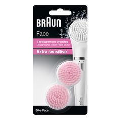 Braun facial cleansing brush refill pack 80-s packaging